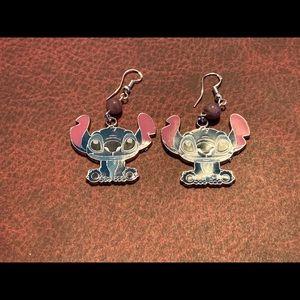 3/$30 Lepidolite Disney Stitch Earrings